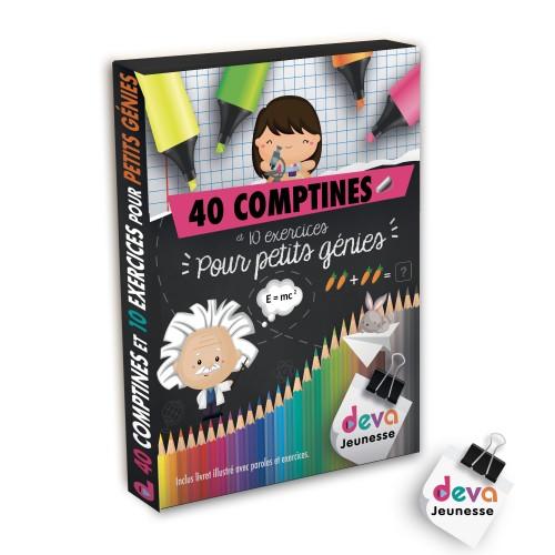 40 comptines pour petits génies- 2CD + Livre 40 pages