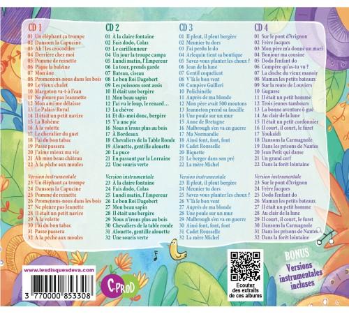 comptines de toujours - coffret 4 cd