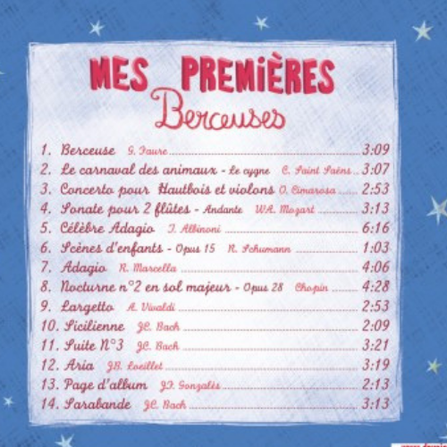 Mes premières berceuses CD titres