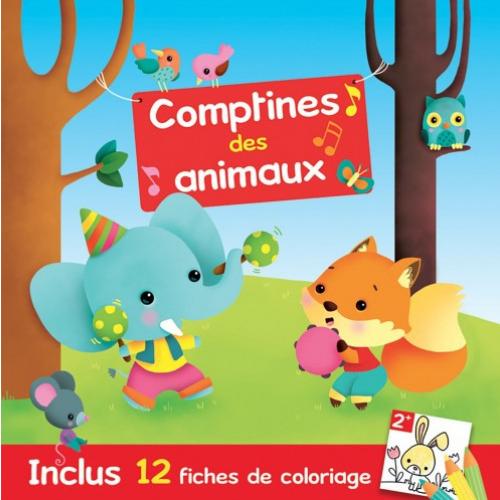 CD Comptines des animaux avec livret coloriage
