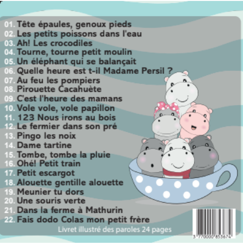 CD MES TENDRES COMPTINES - 25 titres