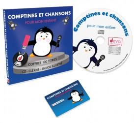Comptines et chansons pour mon enfant : CD + Clé USB avec livret