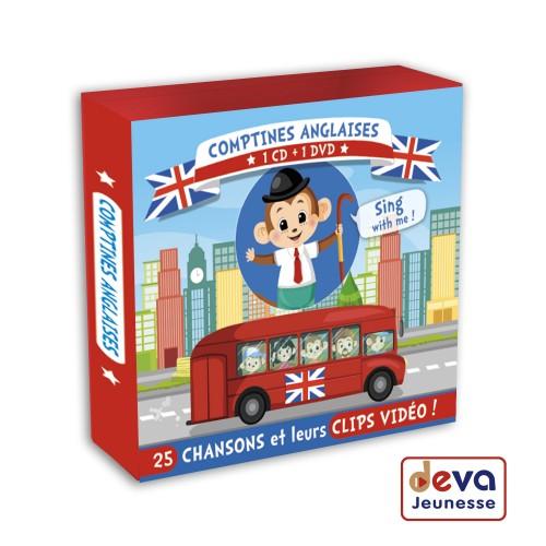 Comptines Anglaises (CD+DVD+Livret illusté)