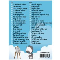 40 comptines à colorier - Tracklist des 40 titres de chansons