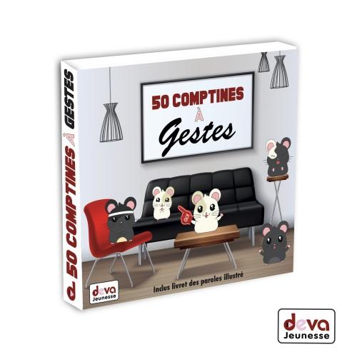Comptines a Gestes - 50 comptines 2CD + Livret