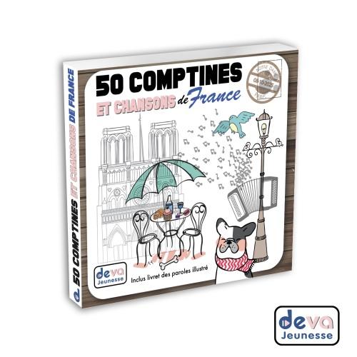 50 comptines et chansons de France ( 2CD + Livret illustré)