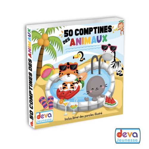50 comptines des animaux ( 2CD + Livret des paroles)