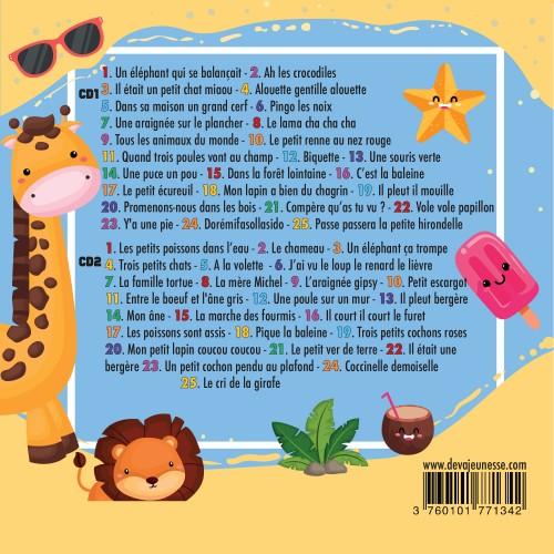 50 comptines des animaux ( titres de l'album)