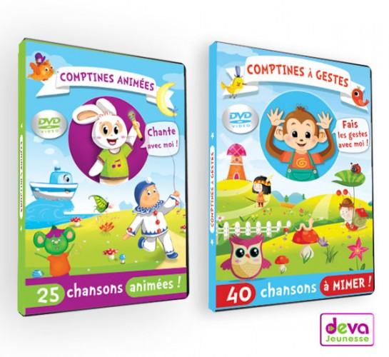 Coffret 2DVD comptines et dessins animés