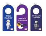 Décor d'Halloween - Imprime tes accroches portes et colorie la sorcière Aglagla