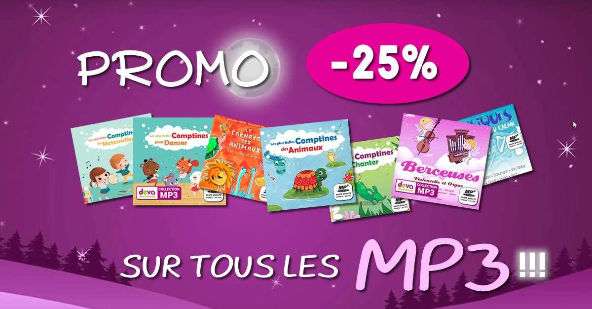 Promo -25% sur tous les MP3 du site DEVA Jeunesse !